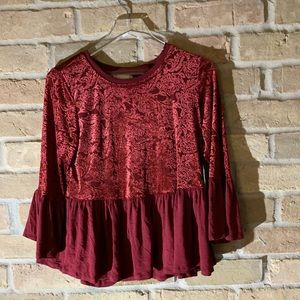 Red blouse from Altar'd State size L with tags